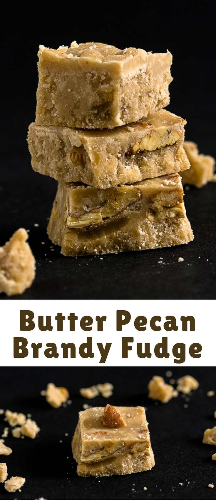 Fudge is so easy to make and it's the perfect thing for a Christmas gift. Make this Butter Pecan Brandy Fudge for someone you love this holiday season. If you don't devour it first! ????