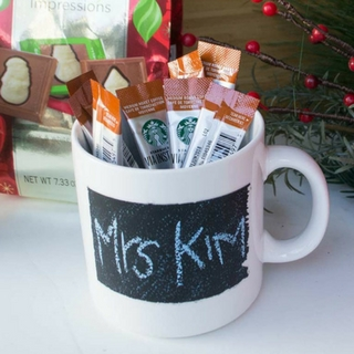 Chalkboard Paint Teachers' Holiday Gifts