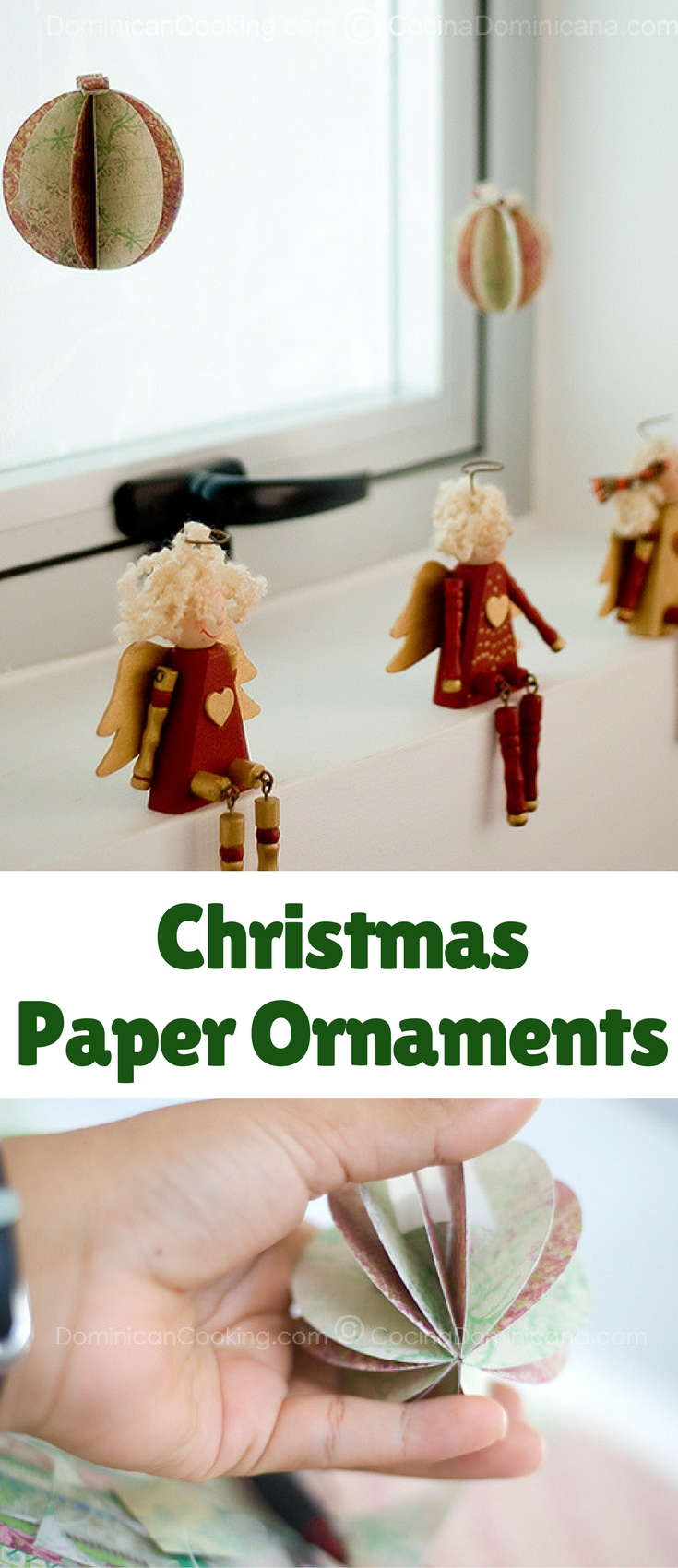 My daughter and I love crafting together, this is how we made some Christmas paper ornaments.