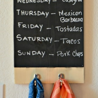 DIY Wooden Dish Cloth Hanger/Menu Board