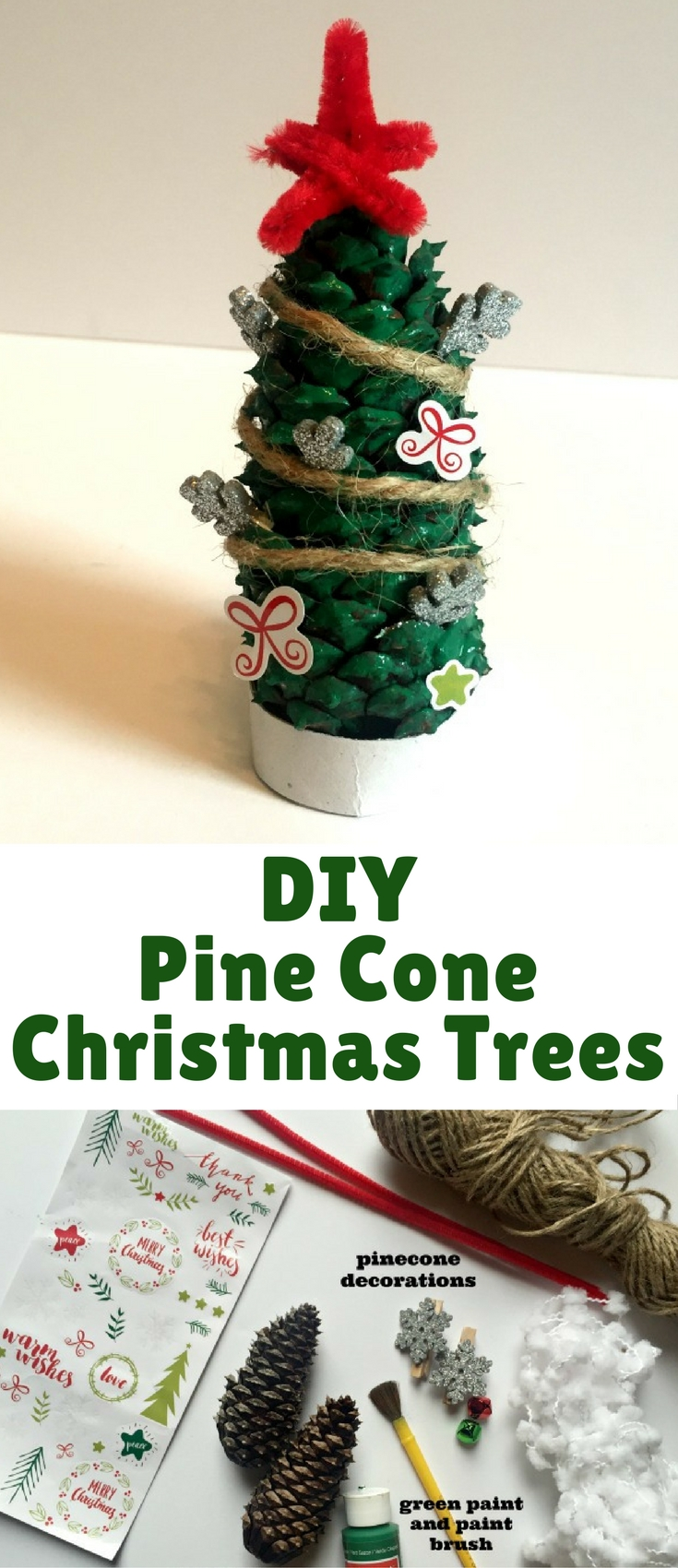This Pine Cone Christmas Tree craft is so easy to make and a lot of fun as well.
