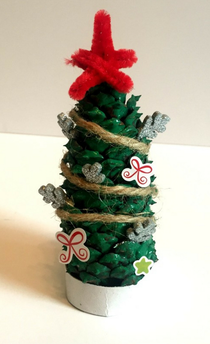 Pine Cone Christmas Tree Craft.How To Make Pine Cone Christmas Trees Blogger Bests