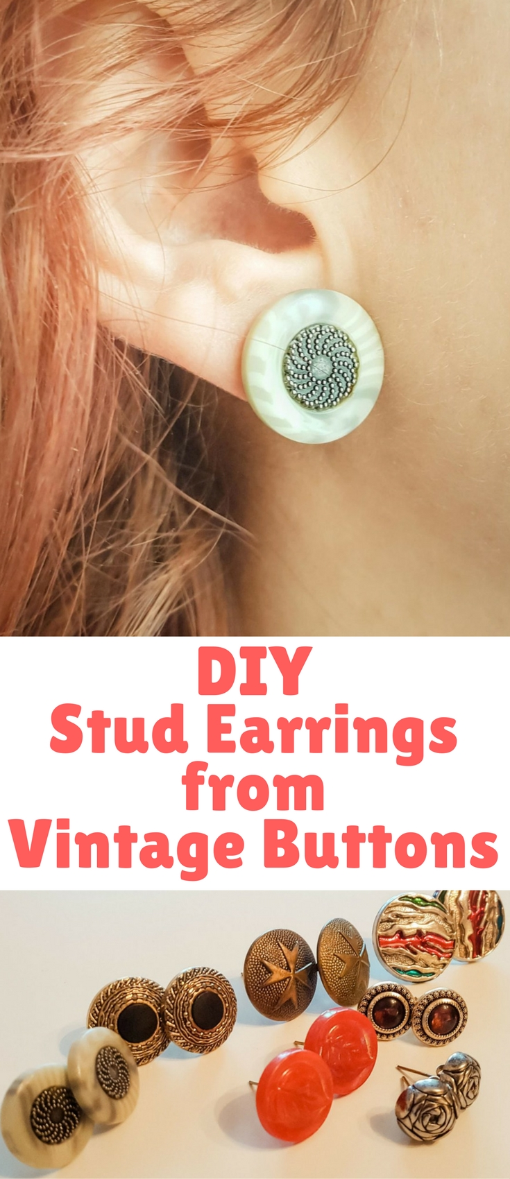 I came up with a project to supplement your jewelry box with nice little vintage style stud earrings, which are easy, cheap and quick to make.