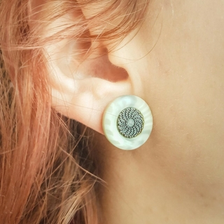 DIY Stud Earrings from Vintage Buttons