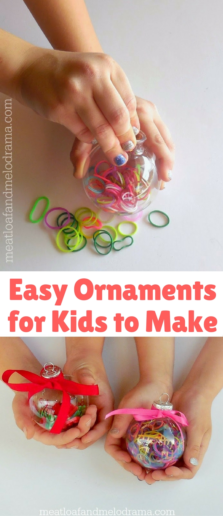 I have a super easy and super quick ornament craft to share with you today. I mean, this one takes a few short minutes, from start to finish, which is probably why my kids enjoyed it!