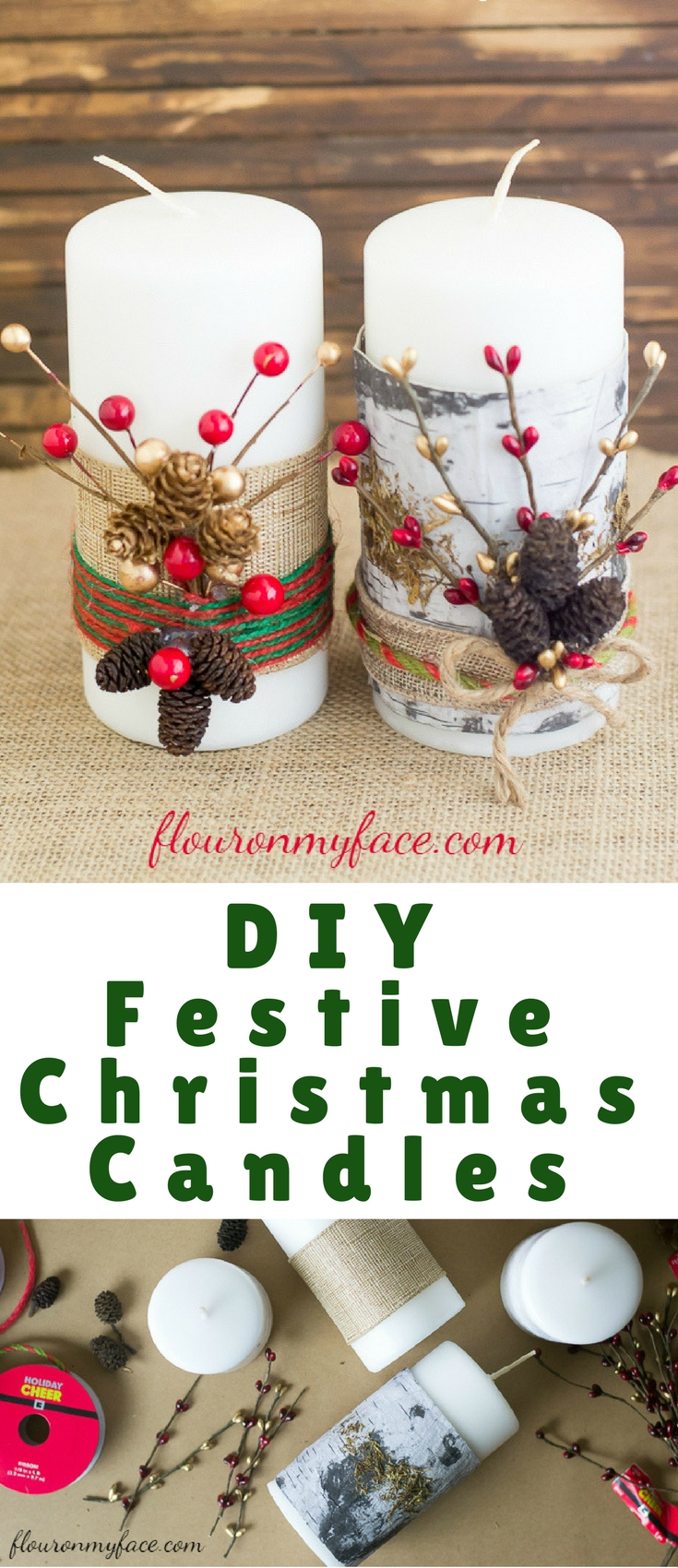 Diy Festive Christmas Candles Blogger Bests