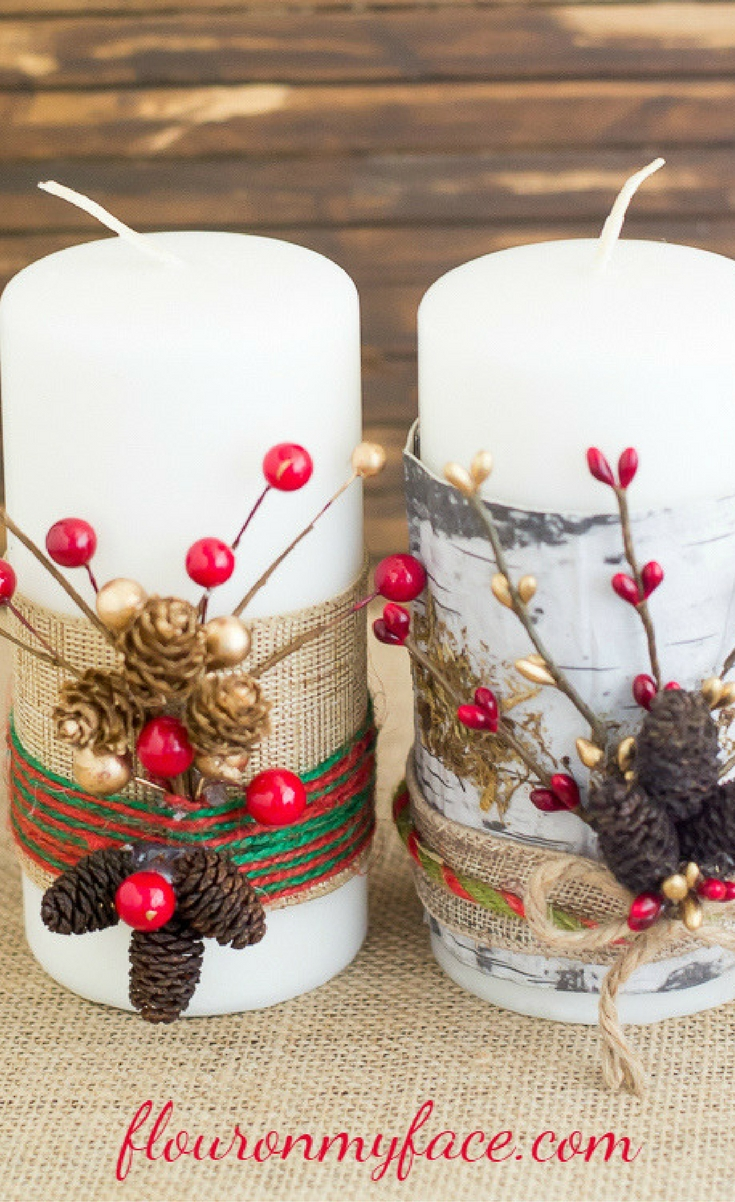 Making DIY Christmas decorations is so much fun. If you are looking for some easy & DIY Festive Christmas Candles - Blogger Bests