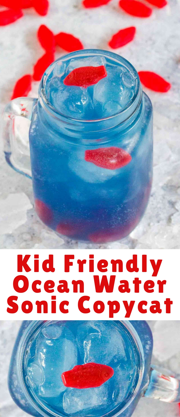 Ocean Water is colorful, sweet, tangy and refreshing. This kid friendly version has been inspired by the famous Sonic Ocean Water.