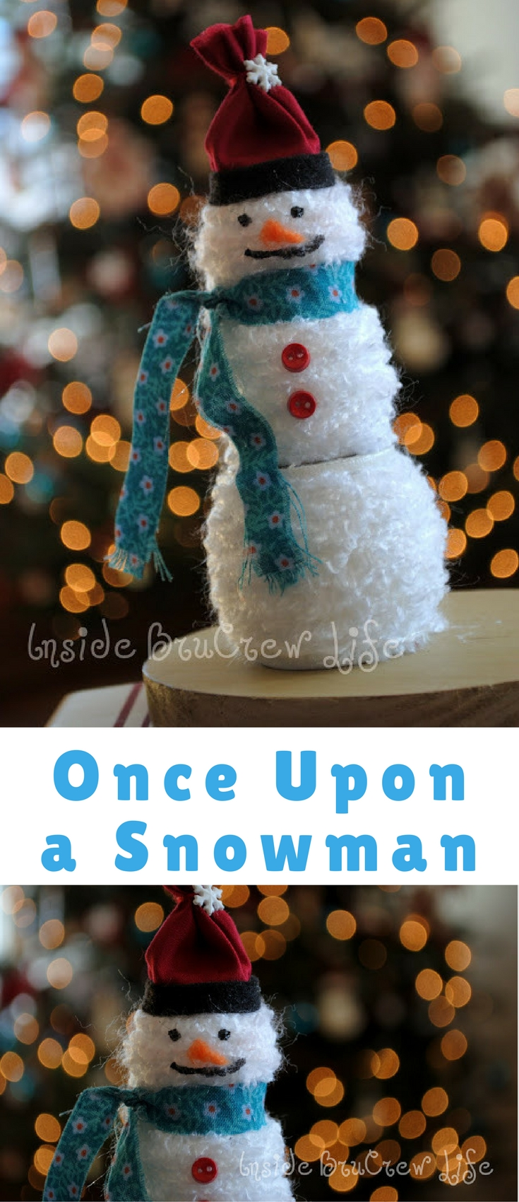 Time to gather your supplies because I am going to share my snowman vision with you.