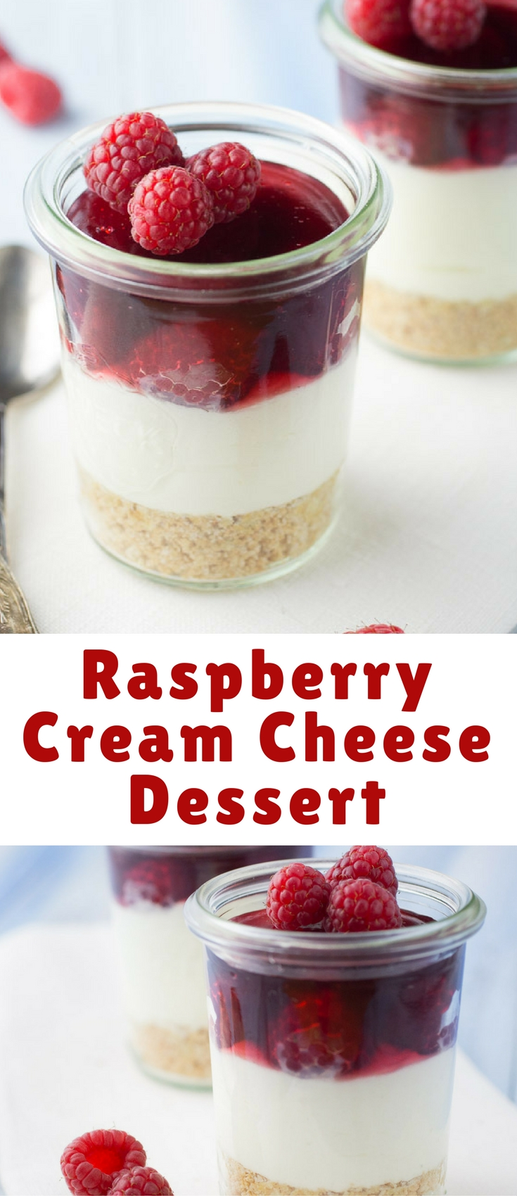 Crumbly cookies, sweet cream and fresh raspberries. This one is a winner everytime.