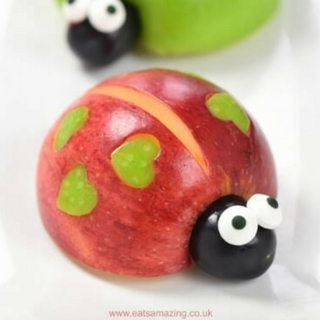 Valentines Fun Food: Apple Love Bug Tutorial