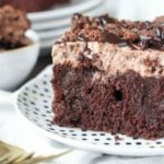 Brownie Batter Poke Cake