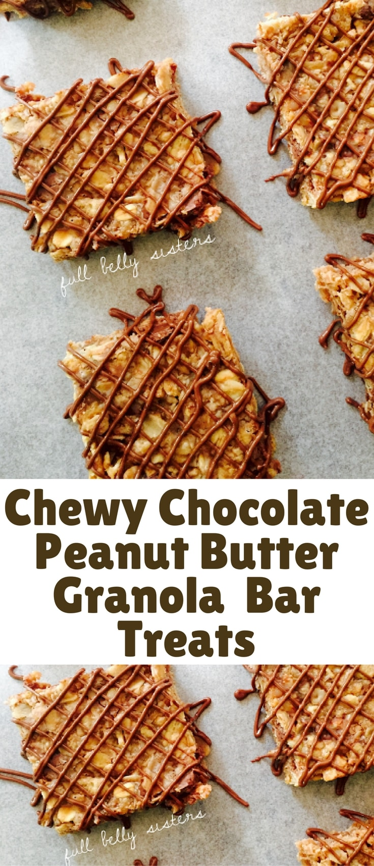 My Chewy Chocolate Peanut Butter Granola Bar Treats are simple to make, delicious, and gluten-free.
