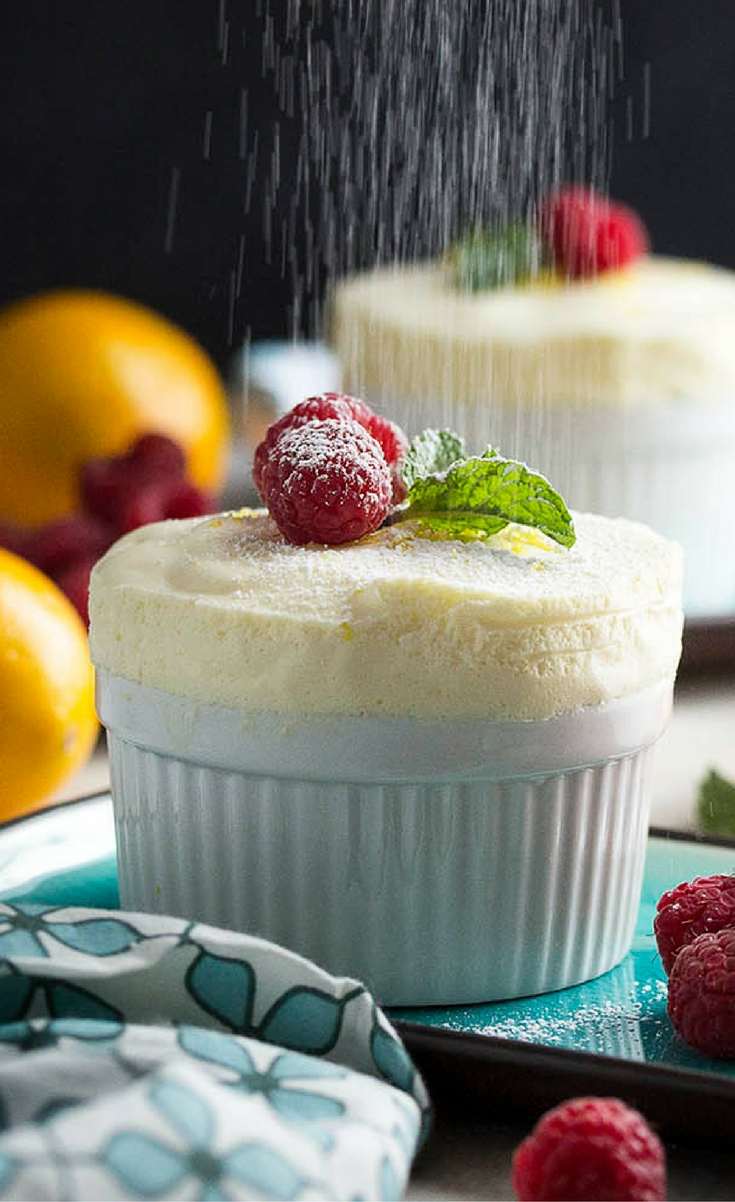 Meyer lemons give these chilled lemon souffles a sweeter, rather floral flavor which is just right for this elegant, make-ahead dessert. Serve them in small ramekins so the souffle climbs over the rims or in parfait glasses with whipped cream.