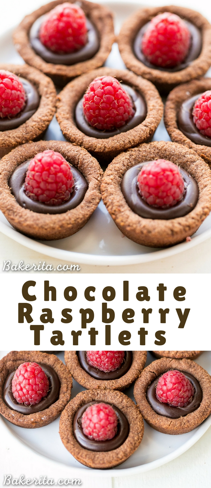 These Chocolate Raspberry Tartlets are super chocolatey bites – they have a chocolate shortbread crust filled with chocolate ganache and topped with a fresh raspberry.