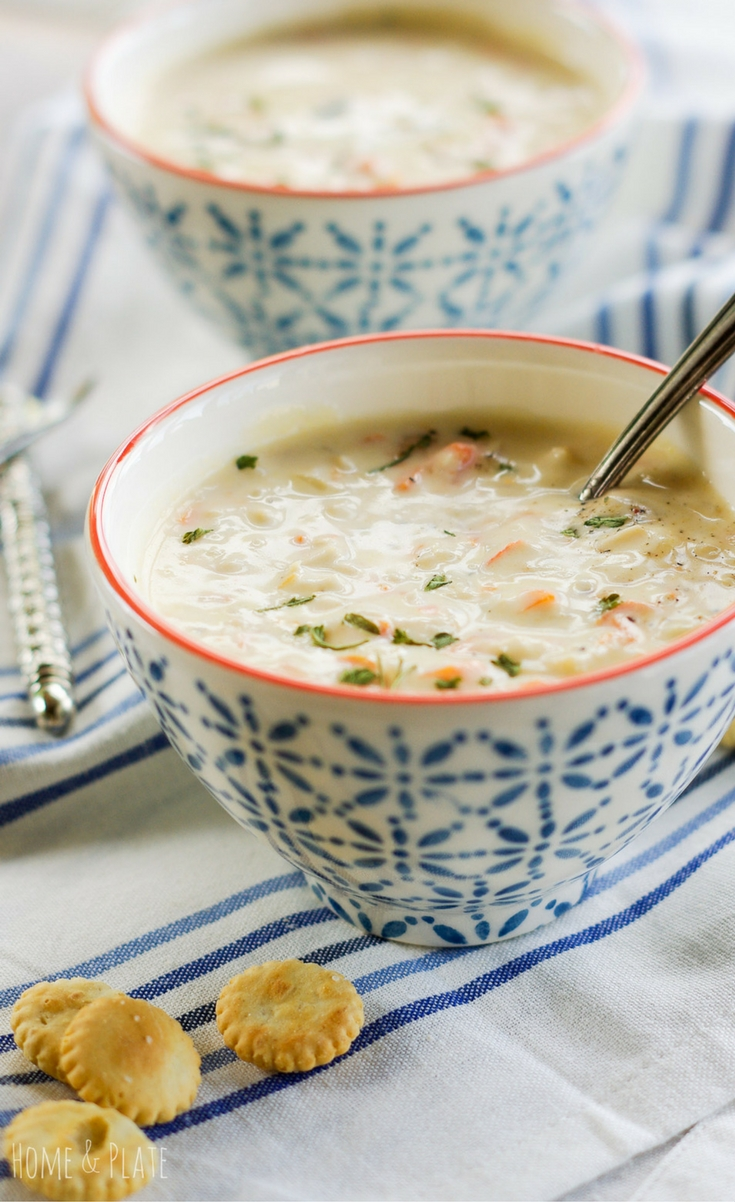 Rich and creamy crab bisque made with chunks of freshly cracked Alaskan King crab meat can be on your table in 30 minutes.