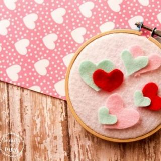 The Sweetest Felt Heart Wall Hanging