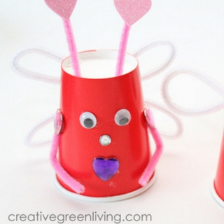 Make Love Bugs for Valentine's Day with Recycled Paper Cups