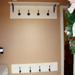 DIY Mud Room Coat Rack