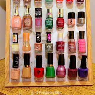 DIY Nail Polish Organizer (Using a Photo Frame)