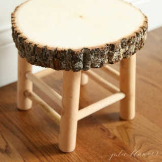 DIY Rustic Wood Bathroom Stool