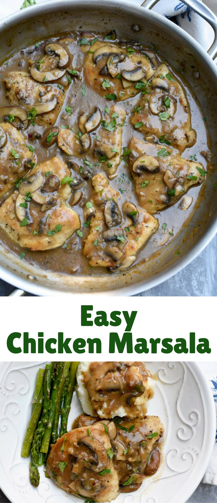 A delicious, but surprisingly easy recipe that results in a restaurant quality dish. Chicken Marsala is an impressive meal that takes less than 30 minutes to prepare.