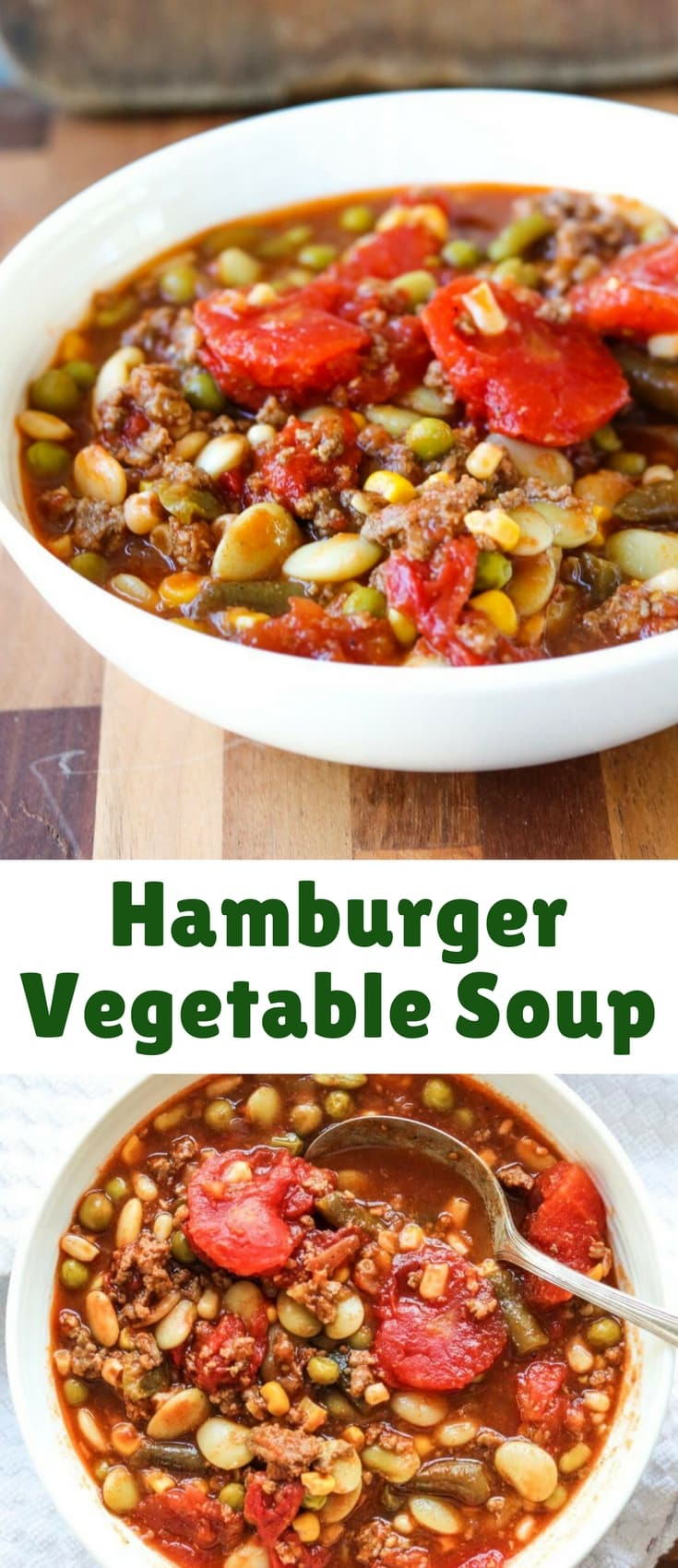 This Hamburger Vegetable Soup is hearty and flavorful and warms you from head to toe. And with so many veggie combinations available, it's totally customizeable to your tastes!
