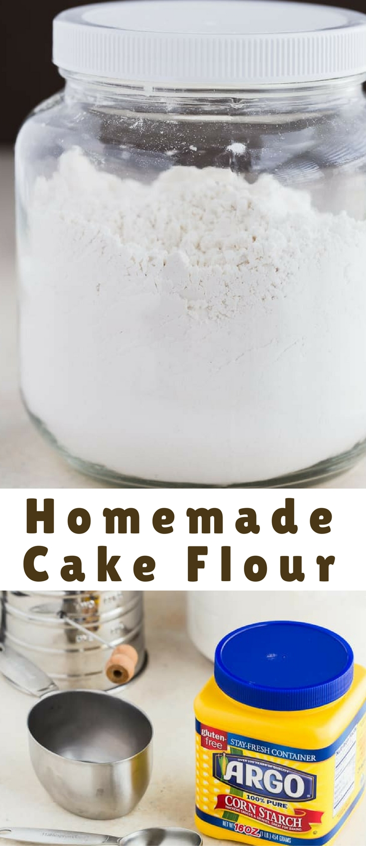 This Homemade Cake Flour is a 2-ingredient recipe that you must add to your arsenal of baking necessities.