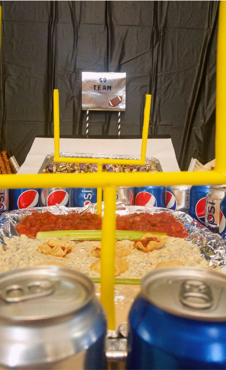 Today I'm sharing my ultimate Snack Stadium, with directions! This stadium is the perfect centerpiece to hold all your game day snacks! I have aways wanted to build one of these bad boys and I finally got the chance, and I'm beyondexcited to share thiswith you.