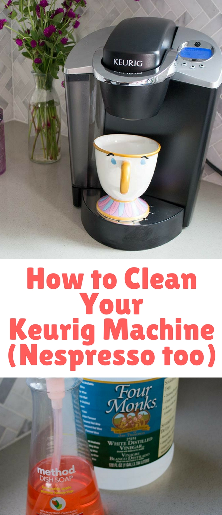 Ever wonder how to clean your Keurig? This tutorial is perfect for all those coffee loving moms & dads out there! Good coffee starts with a clean machine.