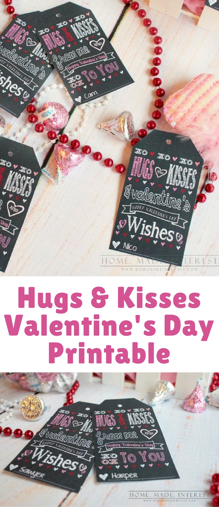 This Valentine's Day Printable Gift Tag can be personalized, just type in a name at the bottom before printing. Perfect for when you have a classroom of kids to make favors for!