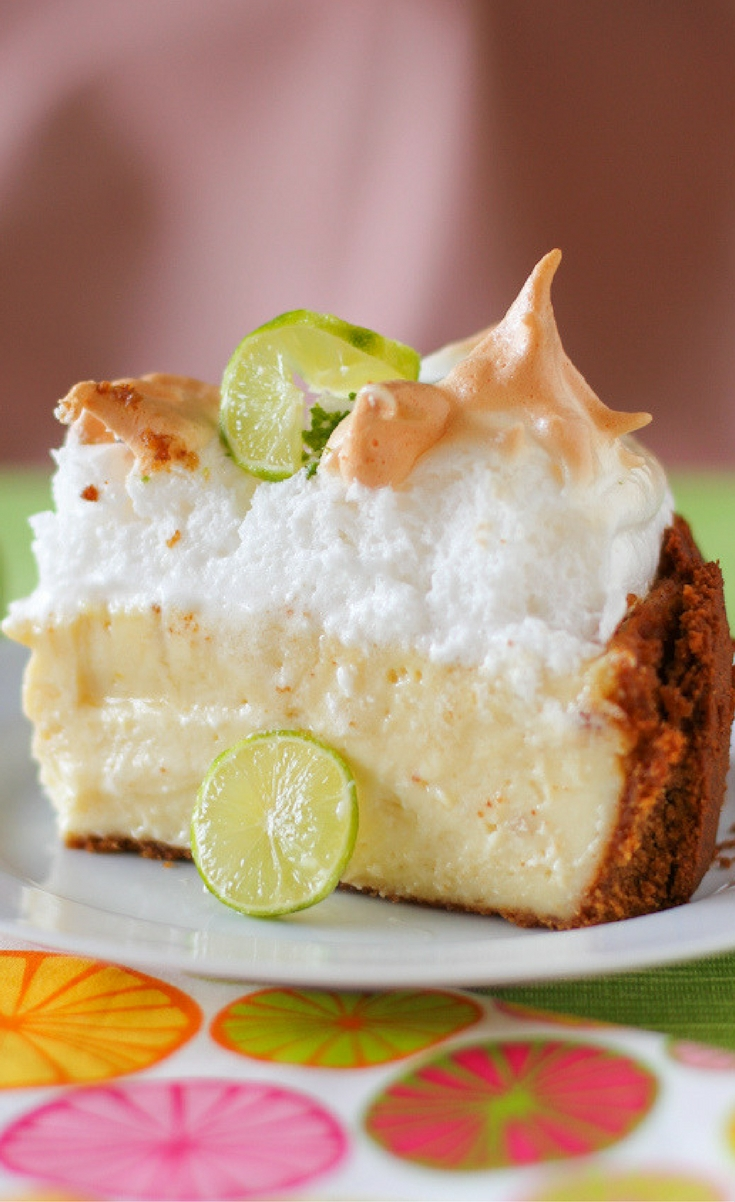 Do you like cheesecakey or custardy key lime pie? No matter what your answer is, this recipe will satisfy your craving — because it combines both textures!