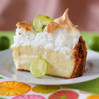 Key Lime Pie Cheesecake with Sky-High Meringue