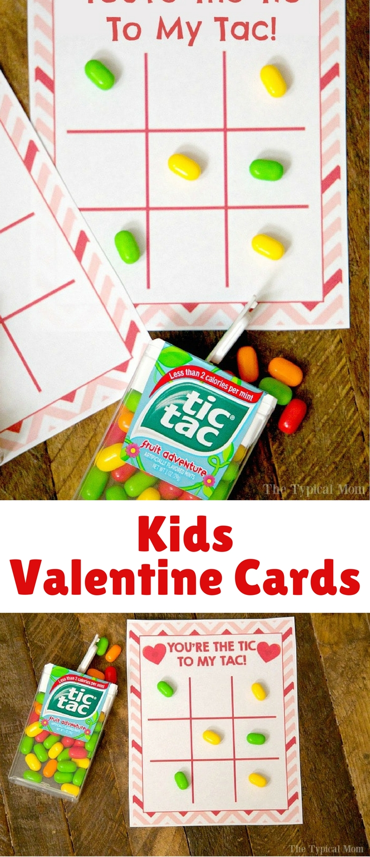 Whether you have a boy or girl every child loves a fun game of tic tac toe, so I thought I'd make these cute kids Valentine cards that are really perfect to give to anyone!