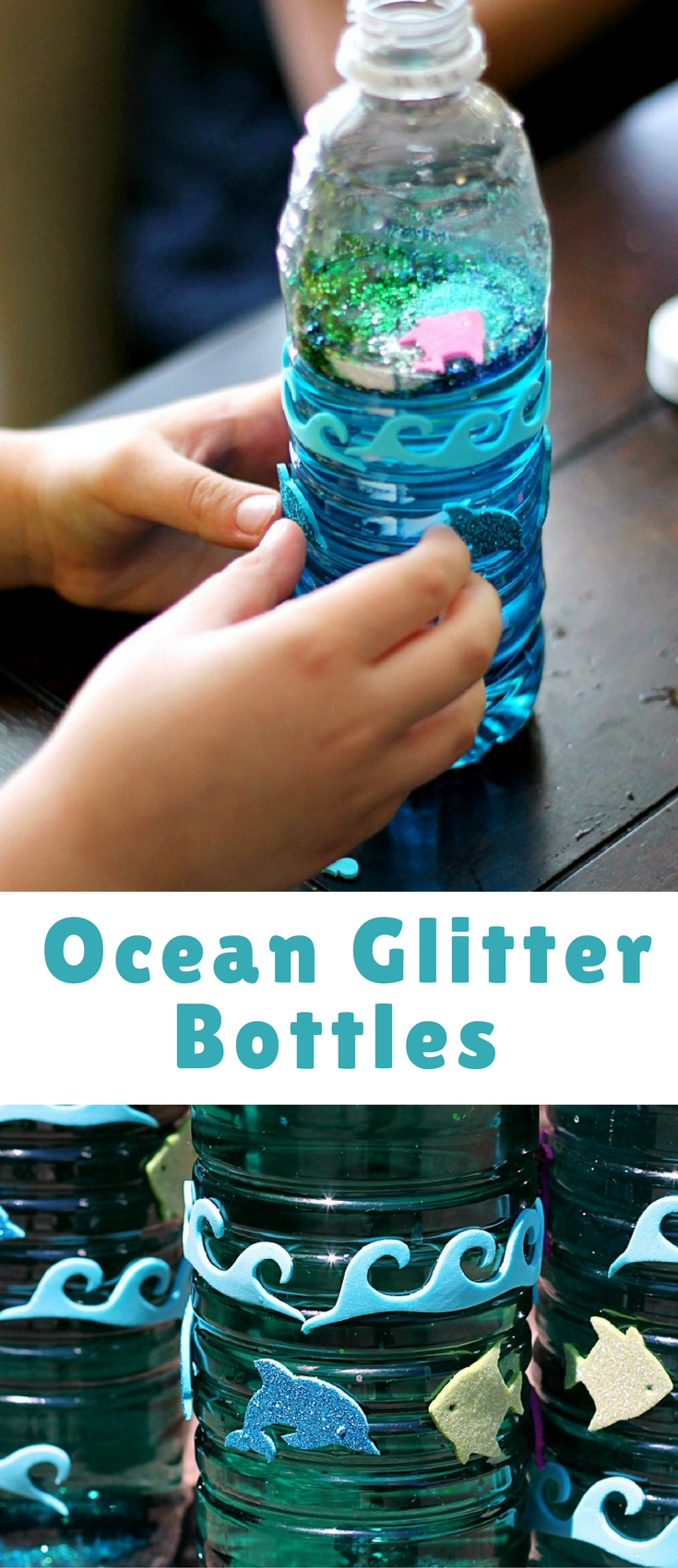 Kids love to make these, they are super easy and I just love them! They are so calming to look at with all the swirling glitter!