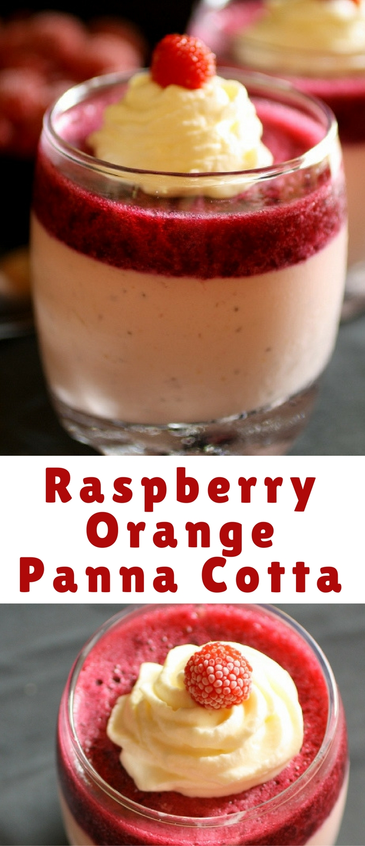 This raspberry panna cotta is so creamy and refreshing. Perfect for Valentine´s Day.