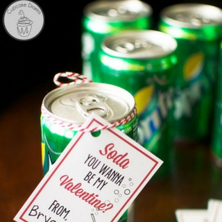 Soda Valentine with FREE Printable Tags