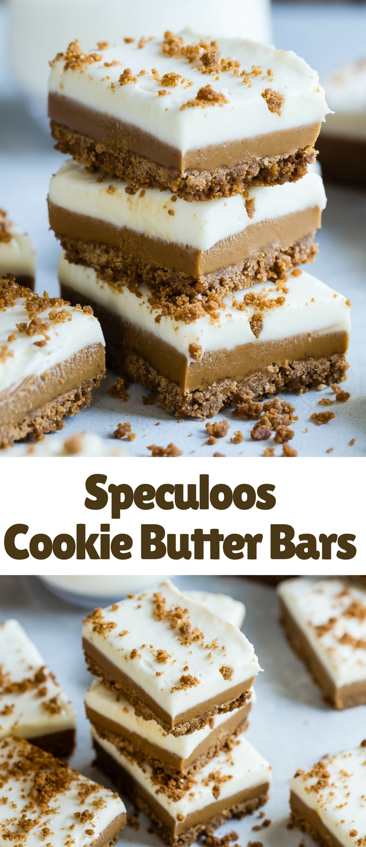 Have you seen the new Cookie Butter Bars in Starbucks? They taste completely ridiculously good and you can make them at home, which also means you can eat way too many!