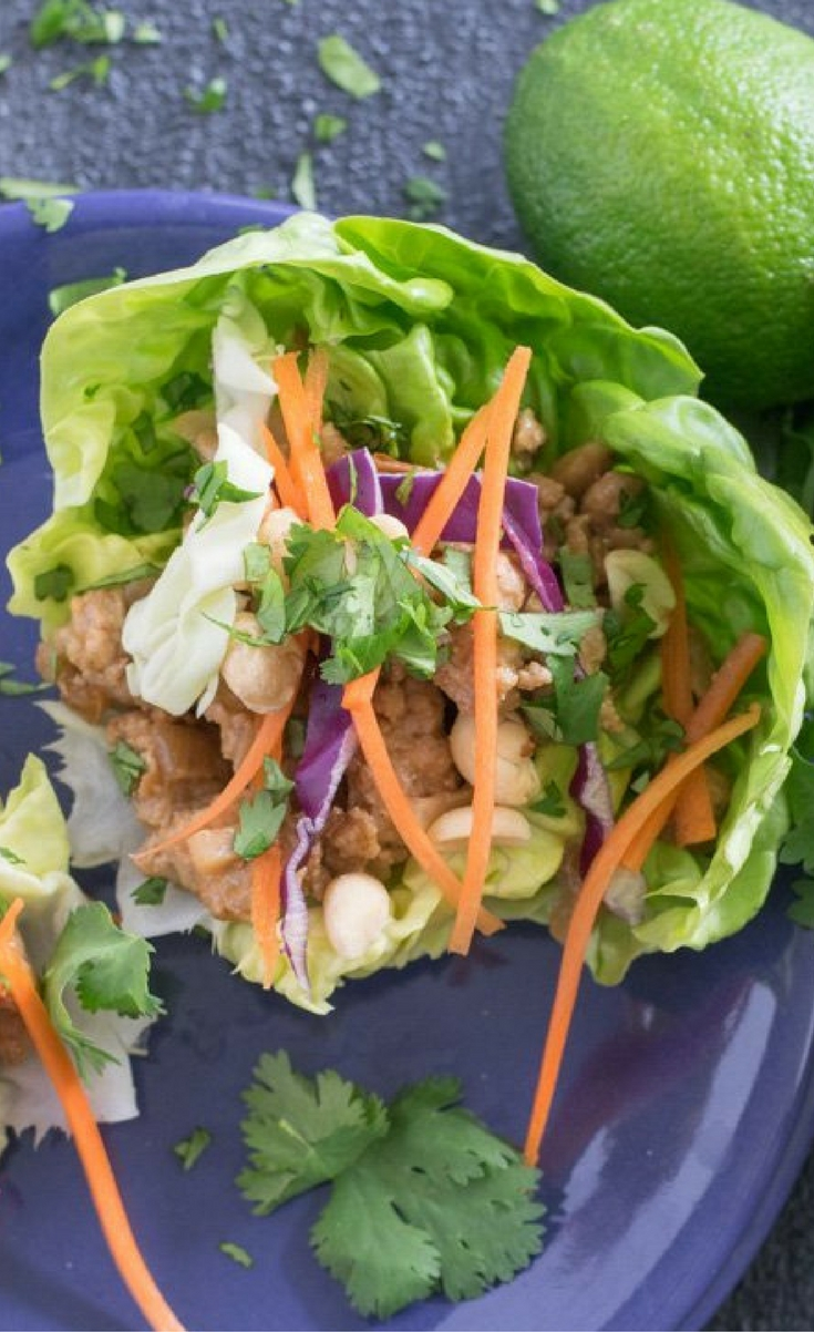 These tangy Thai Chicken Lettuce Wraps are really easy to make and result in an excellent packable lunch or a quick and easy dinner!