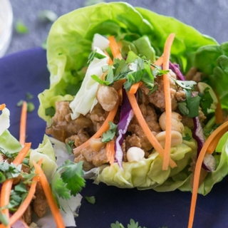 Tangy Thai Chicken Lettuce Wraps