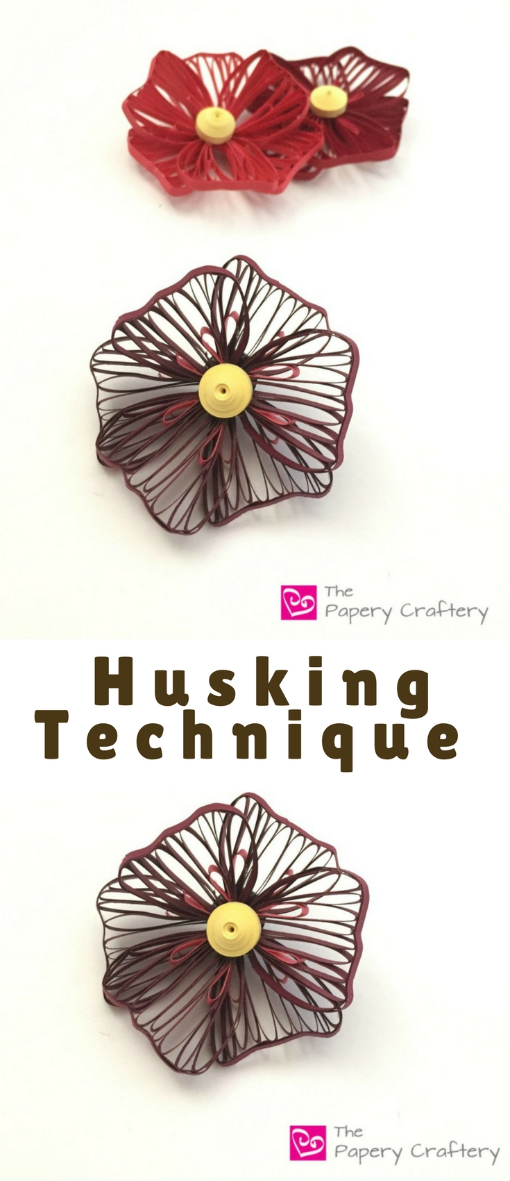 Huskingpaper is definitely outside of the normal realm of quilling, but it doesn't have to be scary at all!It's simply a matter of wrapping strips of paper around pins over and over to create a design.