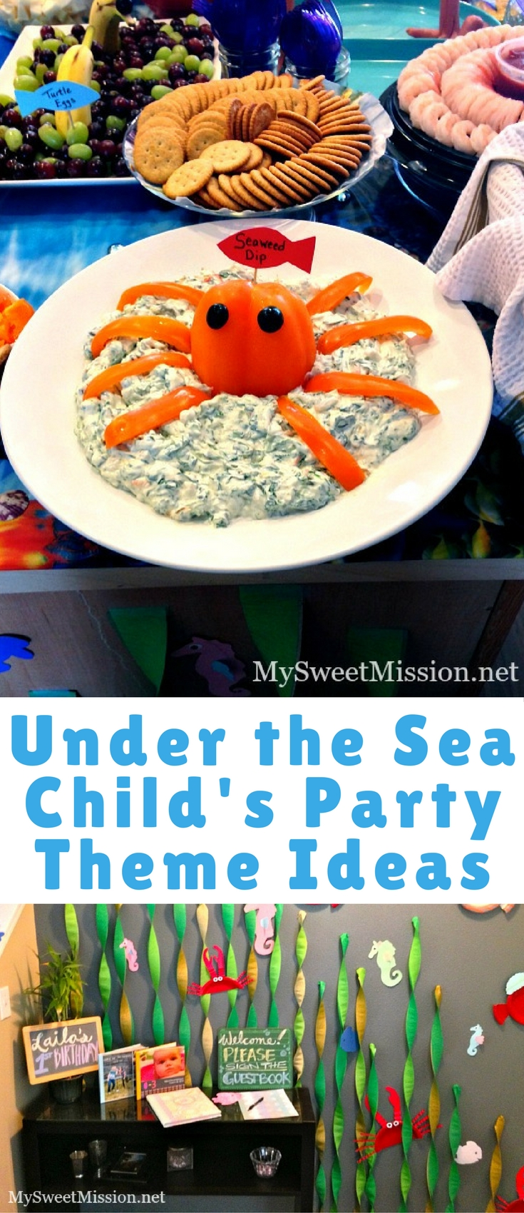 Today we're sharing some adorable Under the Sea Child's Party Theme Ideas from our granddaughter, Laila's 1st birthday party.