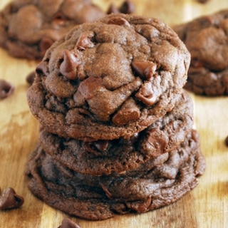 Whole Wheat Chocolate Fudge Cookies